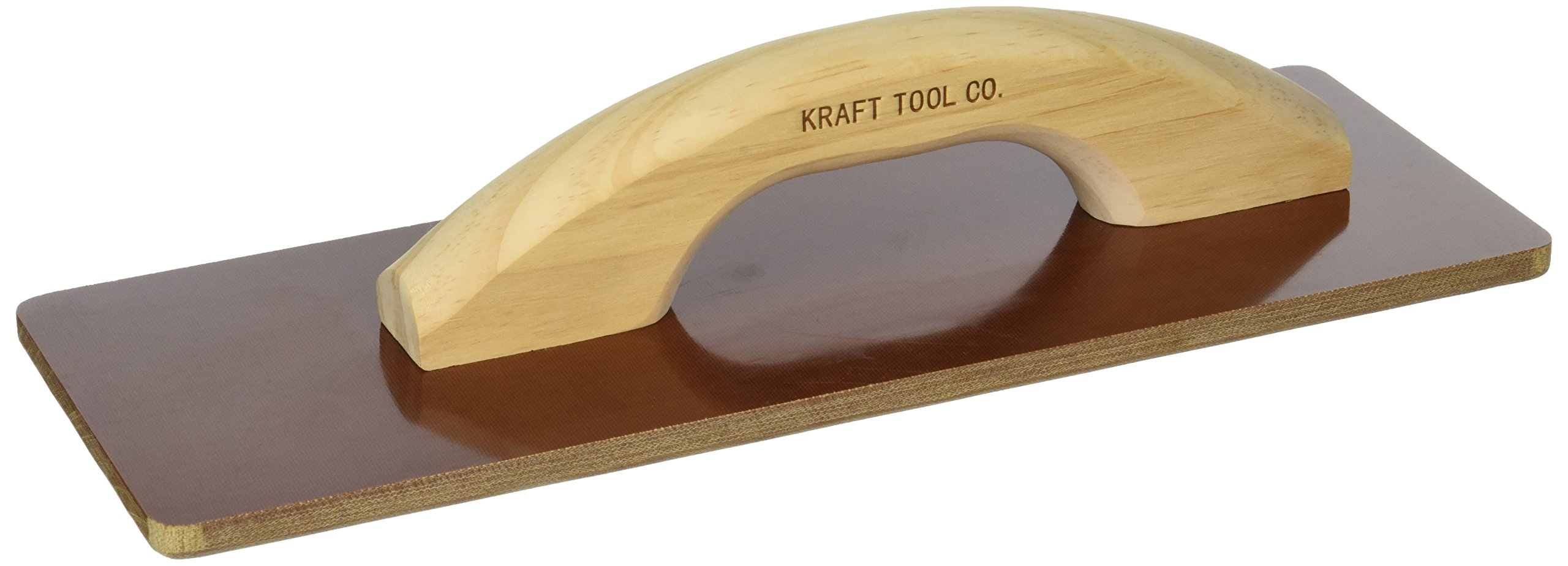 Kraft Tool CF530 Square End Laminated Canvas Float with Wood Handle, 14 x 5-Inch