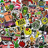 Yoogeer Car Luggage Sticker -【100Pcs】 Unique Car Stickers Motorcycle Bicycle Skateboard Laptop Luggage Decals Bumper Graffiti Stickers (A)