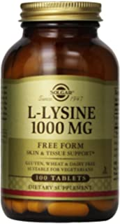 Solgar L-Lysine Tablets, 1000 mg, 100 Count by Solgar