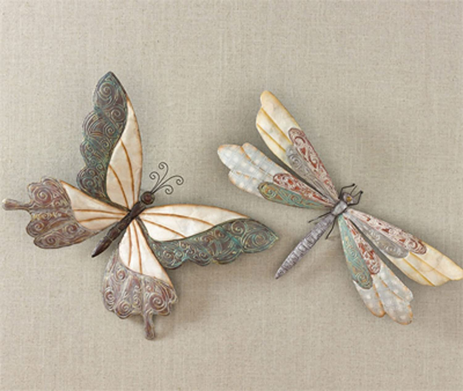 butterfly and dragonfly wall art