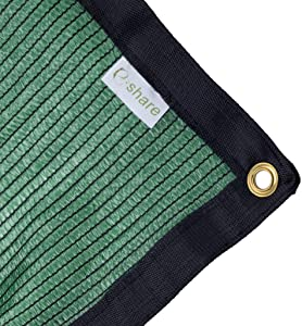 e.share 70% Green Shade Cloth Taped Edge with Grommets 12 ft X 8 ft
