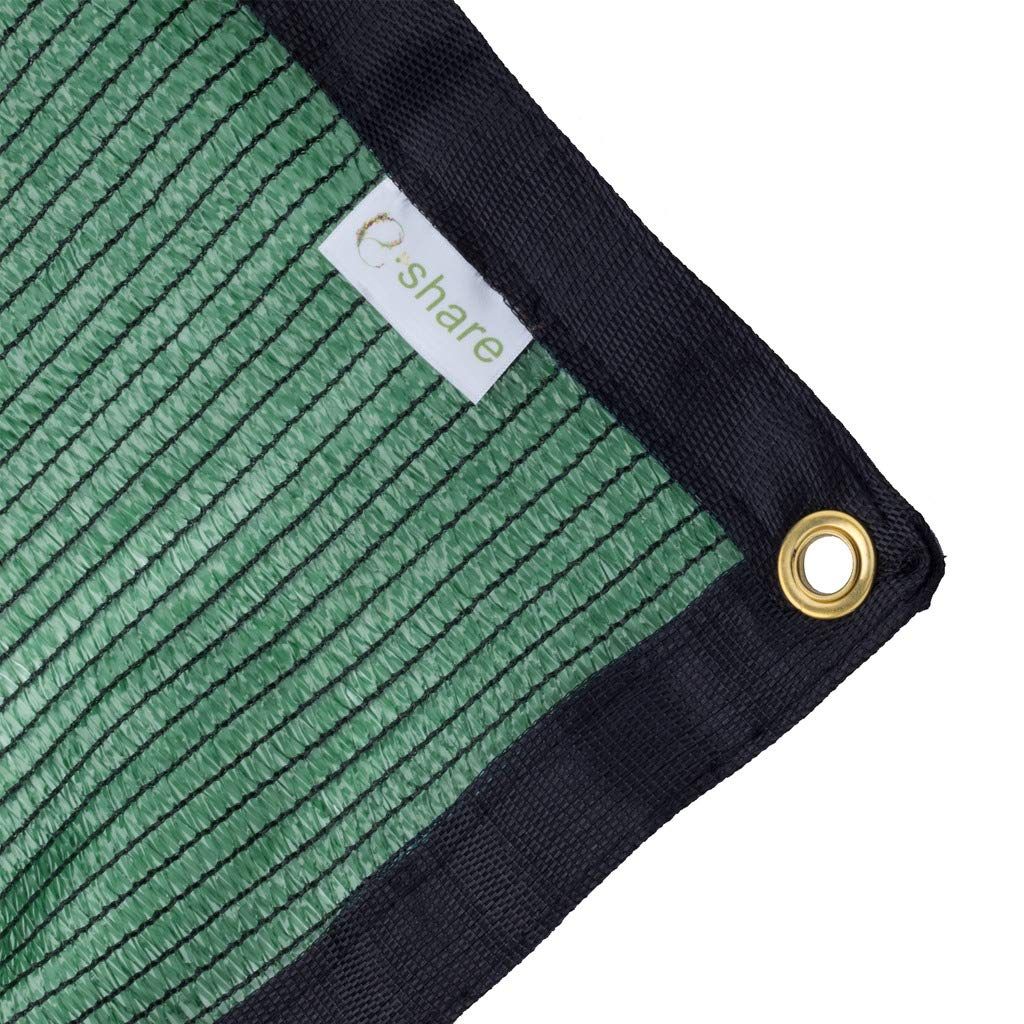e.share 70% Green Shade Cloth Taped Edge with Grommets 12 ft X 24 ft by e.share