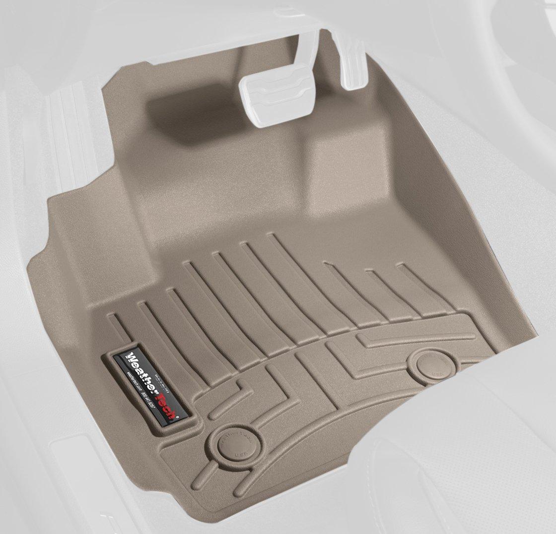 Amazon.com: WeatherTech Custom Fit Front FloorLiner For Ford  F250/F350/F450/F550 Super Duty Regular Cab, Tan: Automotive