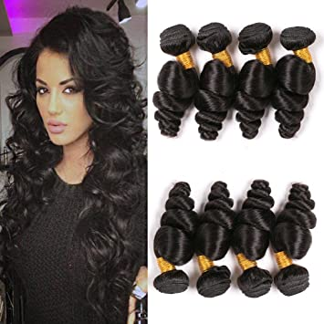 Brazilian Loose Wave 8a 4 Bundles Cheap Human Hair Extensions Unprocessed  Virgin Remy Human Hair Bundles 832639403