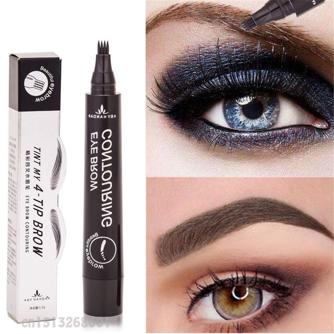 Amazon 4 Fork Tip Fine Sketch Enhancer Eyebrow Tattoo Pen