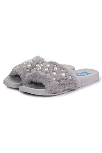 Appett Women's Faux Fur Slippers Fashion Sandals at amazon