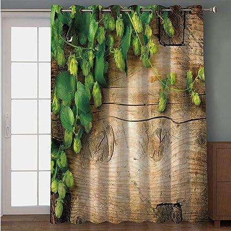 iPrint cortina para puerta de patio, decoración de cueva de hombre, antiguas palabras alemanas proverbias de