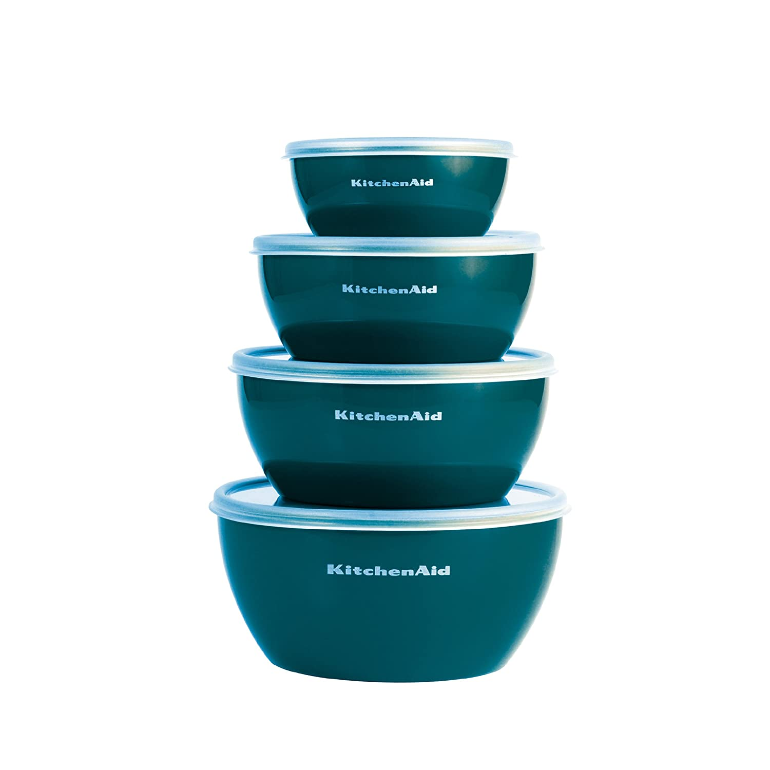 KitchenAid Prep Bowls with Lids, Set of 4, Deep Teal