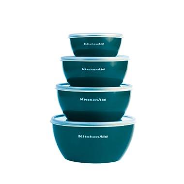 KitchenAid Prep Bowls with Lids, Set of 4, Deep Teal