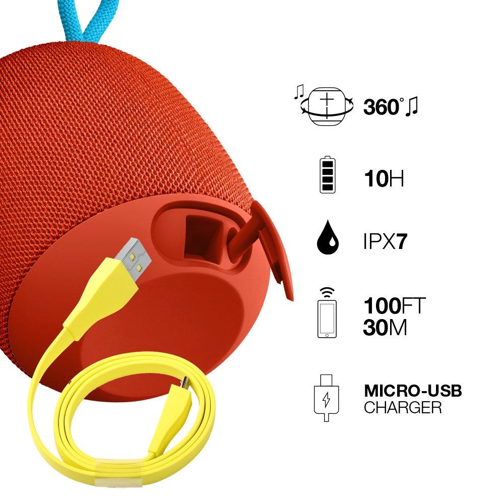 Lilas//Violet Enceinte Bluetooth Ultimate Ears WONDERBOOM /étanche avec connexion Double-Up