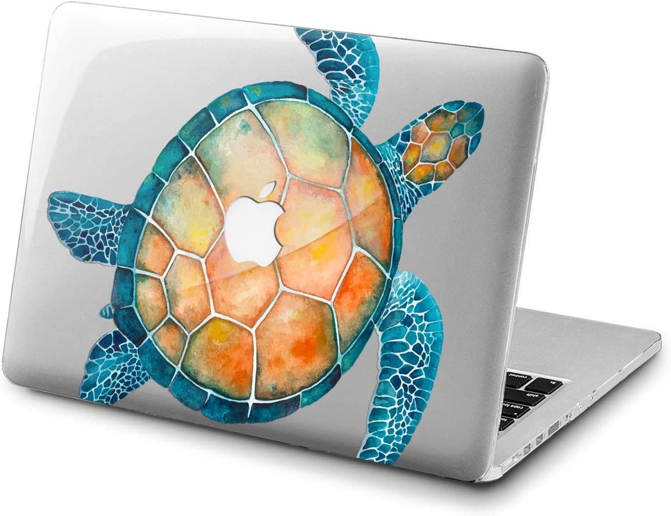 Lex Altern Clear Case for Apple MacBook Air 13 Mac Pro 15 inch Retina 12 11 2020 2019 2018 2017 2016 Girly Cute Watercolor Blue Cover Turtle Shell Ocean Design Animal Fish Plastic Women Sea Laptop