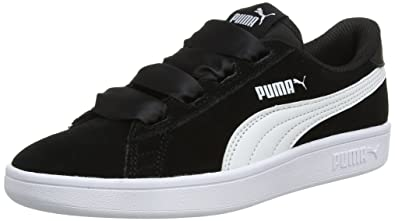 Puma Girl s Smash V2 Ribbon Jr Sneakers  Buy Online at Low Prices in ... b0f14db7e