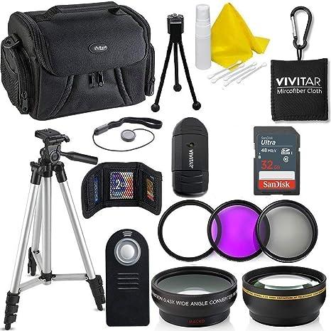 Kit de 15 accesorios para cámaras Nikon D3400, D5600 y D3300, 55 ...