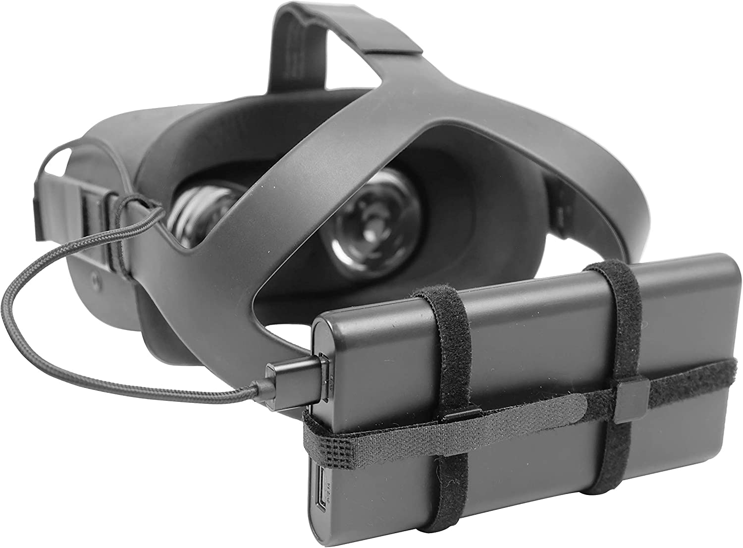 DeadEyeVR Universal Battery Kit - Battery Holder Clips That Fit Any USB Power Pack Bank Accessory for The Oculus Quest