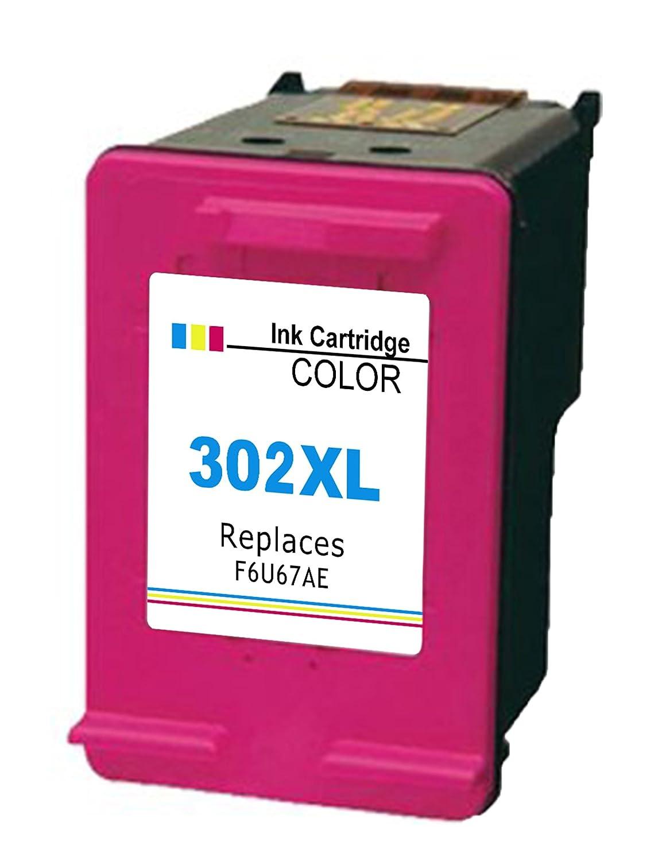 Ink_Seller - Cartucho de tinta regenerado compatible de recambio para impresoras HP 302XL
