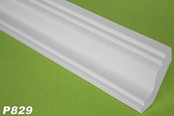 P829 - Perfil de techo de poliuretano (10 m, 40 x 38 mm): Amazon.es: Bricolaje y herramientas