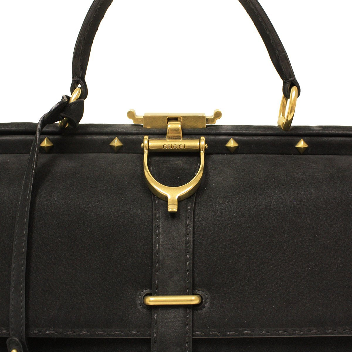 02b9c7838cb6 Amazon.com: Gucci Doctor Lady Stirrup Range Suede Leather Doctor Bag  303885: Shoes
