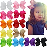 Mybigqueen Boutique Large Hair Bows Ribbon With Alligator Clips For Teens Babies Toddlers Children Newborn Infant Kids Head