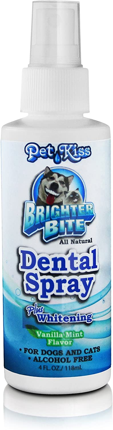 Pet Kiss W-BB4B-5030 Brighter Bite Dental Spray Care Supplies 4 oz