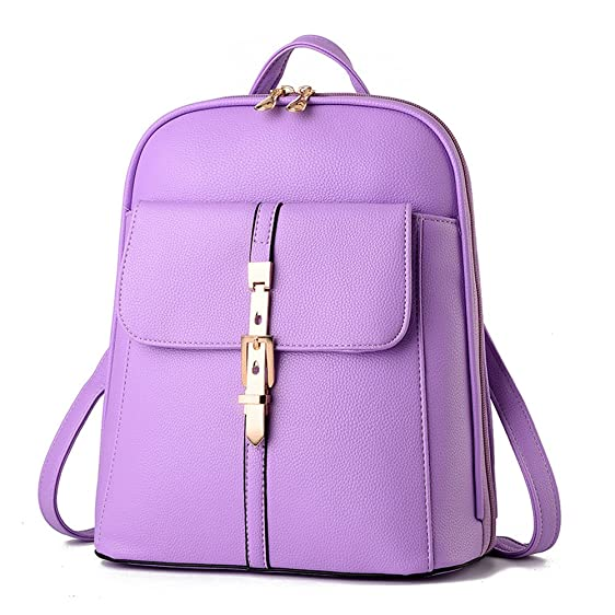 Amazon.com | Shelian Travel Casual Mini Women Leather Backpacks ...