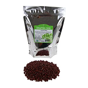 Handy Pantry Adzuki Sprouting Seed Mix - Organic - 2.5 Lbs Brand - Dried Adzuki Seeds for Sprouts, Cooking, Soup, Food Storage