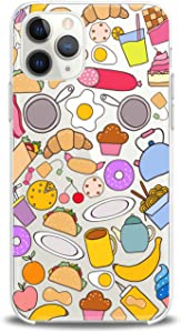 Anreda TPU Case Compatible with iPhone 12 Pro Max 12 5G Mini Xs X 8 Plus Xr 7 SE Cover Bright Theme Print Clear Smooth Dishes Flexible Chef Design Silicone Tasty Women Food Girl Kid Slim fit Soft Gift