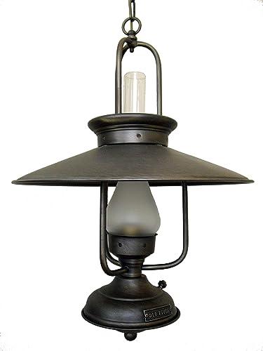 Lámpara de techo quinque grande de 1 luz