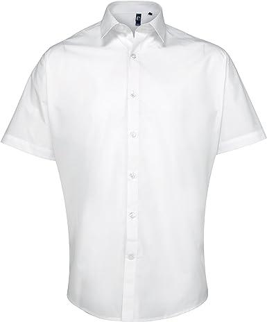 Premier - Camisa de popelina de manga corta gruesa de primera calidad para trabajar Hombre caballero - Trabajo/Fiesta/Verano: Amazon.es: Ropa y accesorios