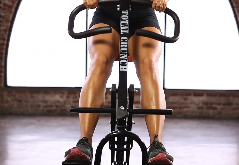 Xylo Heimtrainer Fitness Fahrrad Hometrainer Ergometer Trimmrad Bike Trimmrad bis 150kg belastbar COLT GRAU