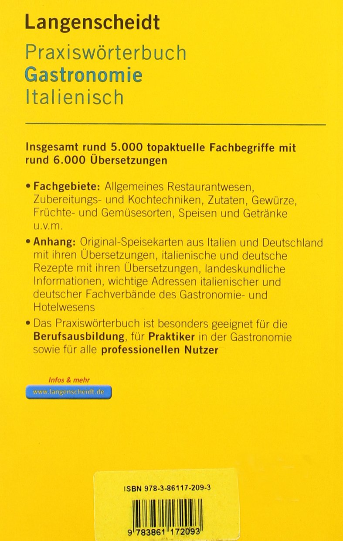Langenscheidt Praxiswörterbuch Gastronomie Italienisch: Italienisch ...