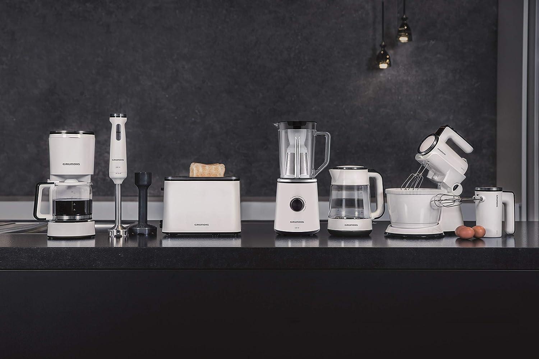 Grundig BL 6840 batidora, 600 W con acero inoxidable 4 capas Cuchillo, 1 L vaso medidor, color blanco/negro: Amazon.es: Hogar