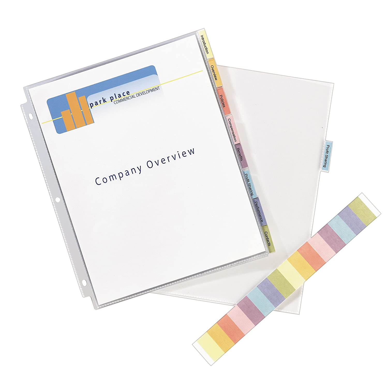 Avery 74161 Protect 'n Tab Top-Load Clear Sheet Protectors w/Eight Tabs, Letter