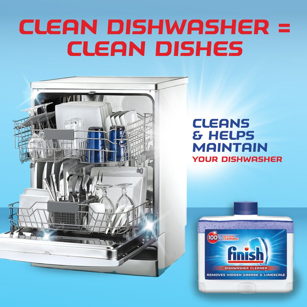 Finish Dual Action Dishwasher Cleaner: Fight Grease & Limescale, Fresh, 8.45oz (2 Pack(8.45 Oz)) by Finish Dual