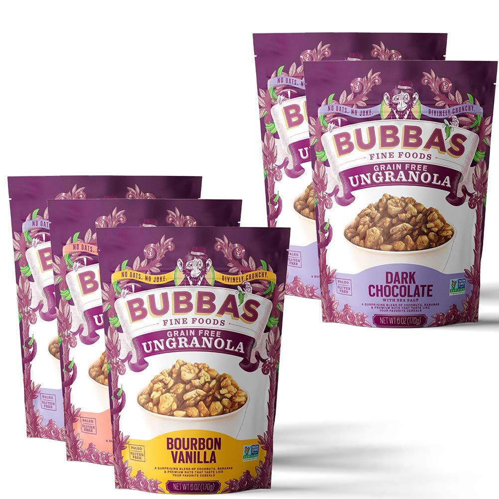 Bubba's Paleo Granola Variety Pack with Dark Chocolate