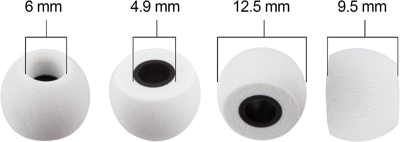 Juego de 8 Piezas - Color Xcessor Tapones Comodos de Espuma para Auriculares 4 Pares Azul