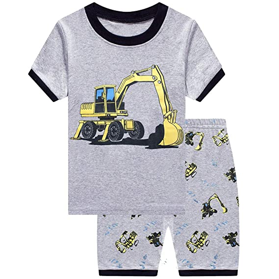 4 Piece Fire Truck Rescue Team Pajamas Sleepwear Size 6