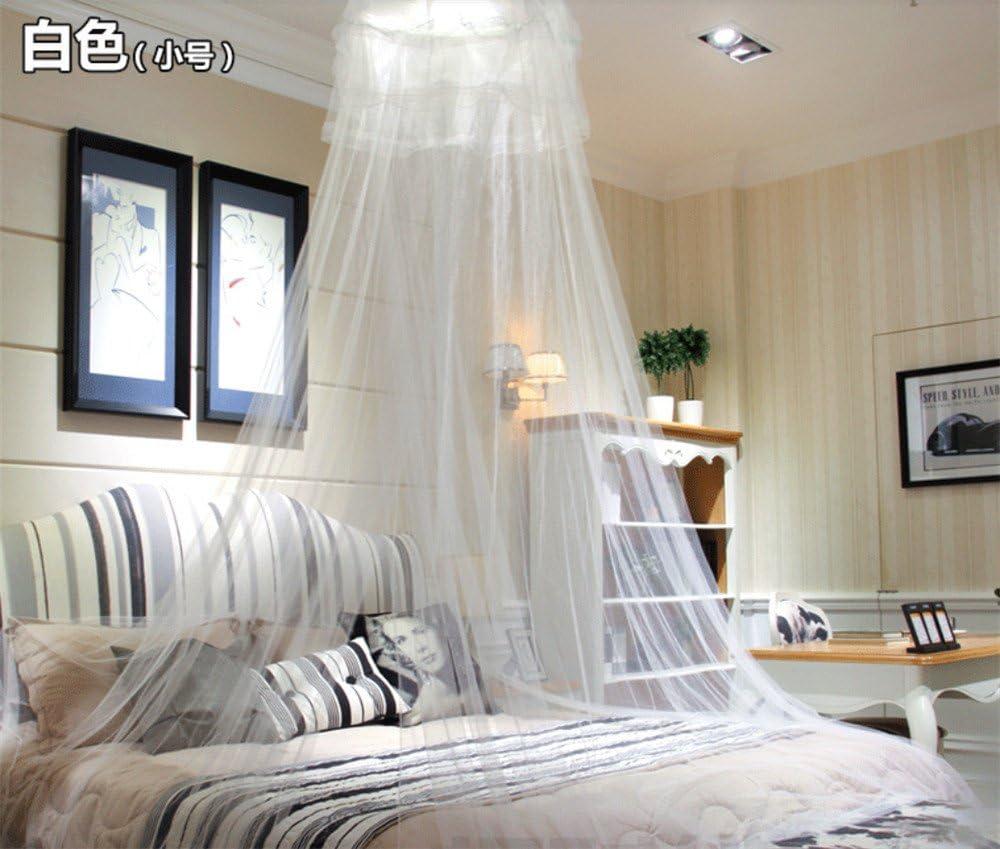 NONGSHA El Techo abovedado Ventilador de Techo Princesa mosquiteros tratados con insecticida Colgando Ronda 1,5 m Cama Single Doble Cortina