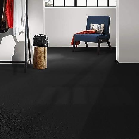 EXPOTOP hasta 20 metros Negro,100x100 cm 8 Colores Suelo de Vinilo en Rollo PVC Premium Vinilo Antideslizante Suelo casa pura Suelo Laminado Vinilo Suelo PVC Decorativo