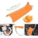 YHMTIVTU Motorcycle Primary Oil Fill Funnel Case Oil Change Replacement for Harley Touring Trike Models 2006-2017 Dyna 2007-2018 Softail Orange
