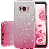 Galaxy S8 Case, Poristal Luxury Bling Glitter Back Cover Protective Bumper [Slim Fit ,Anti-scratch] Case for Samsung Galaxy S8 (Gradient-pink)