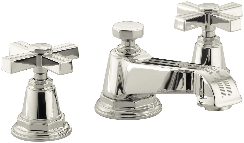 KOHLER K-13132-3B-CP Pinstripe Widespread Lavatory Faucet ...
