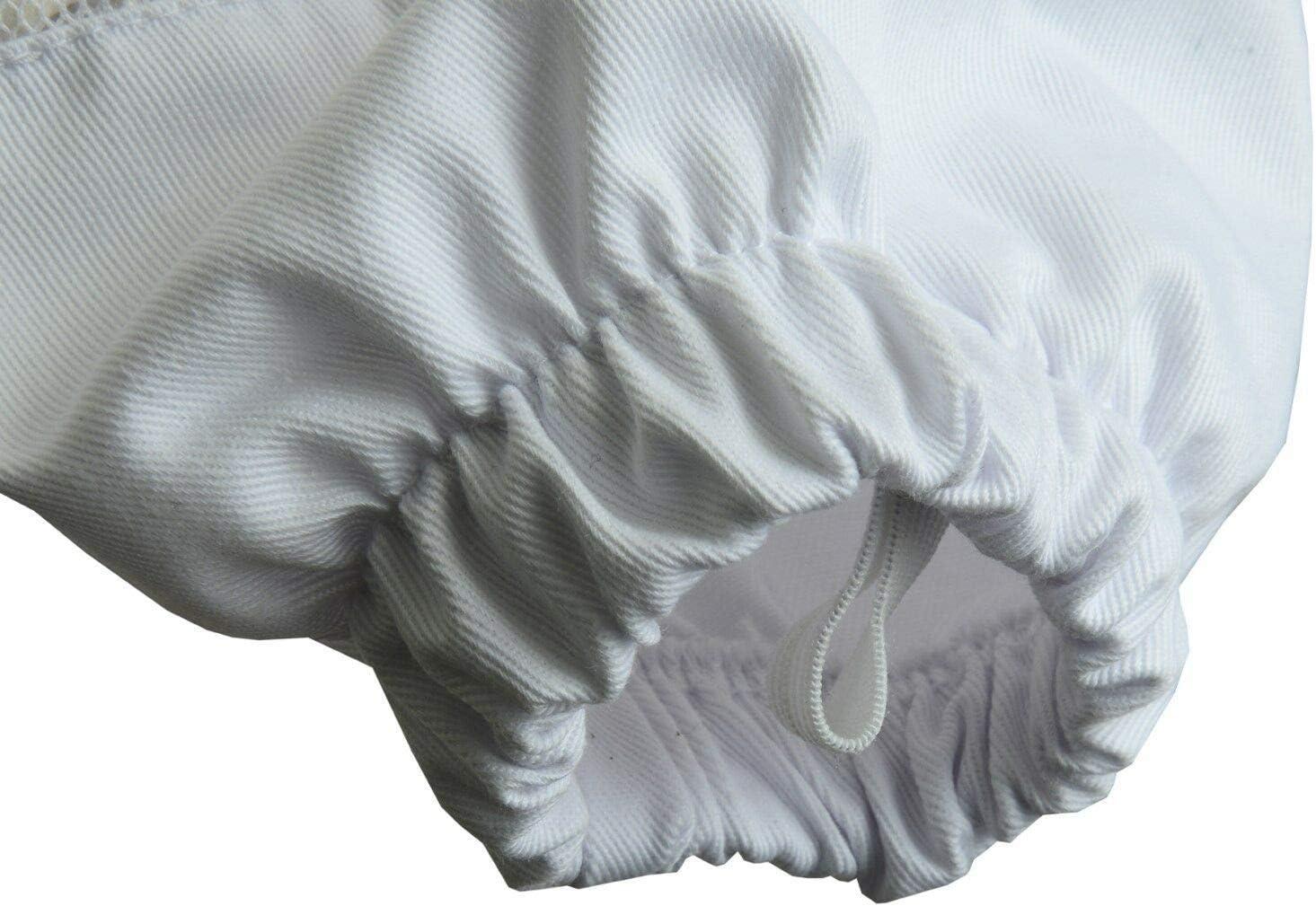 3X Layers Bee-Sicherheitsjacke mit GRATIS-Handschuhen Imker-Rundschleier-Schutzkleidung Unisex-Imkereijacke aus wei/ßem Netzgewebe JRVG Voll bel/üftete Imkereijacke