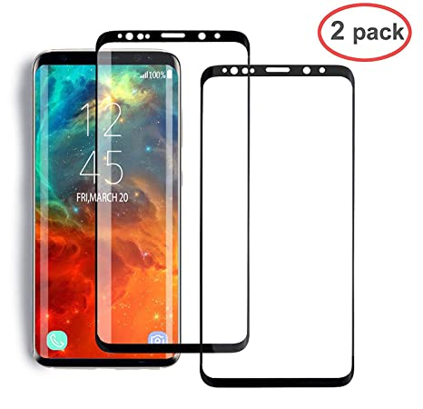 S9 Screen Coverage Glass Case Friendly 5.8 Easy to Install Anti-Fingerprint Galaxy S9 Screen Protector 2-Pack Tempered Glass Screen Protector Compatible with Samsung Galaxy S9 9H Hardness