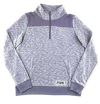 Victoria s Secret Pink Perfect Quarter Zip Sweatshirt Frosty Purple Large  at Amazon Women s Clothing store  24aa52f7e3