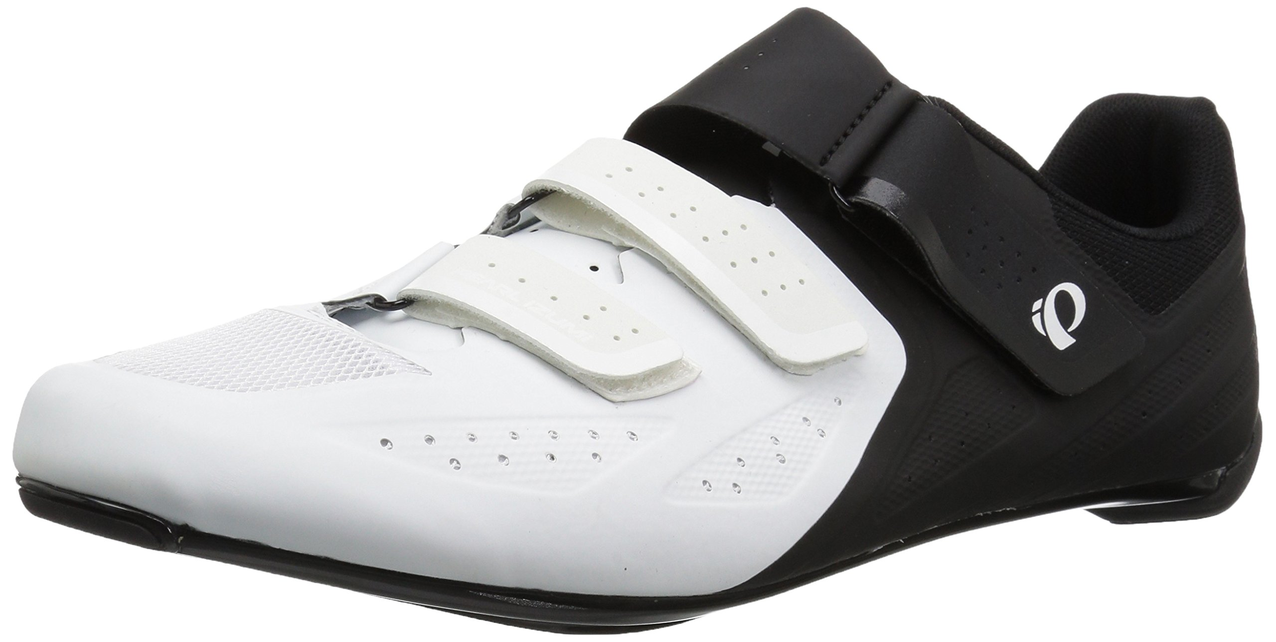 Pearl iZUMi Men's Select Road v5 Cycling Shoe, White/Black, 41.0 M EU (7.7 US)