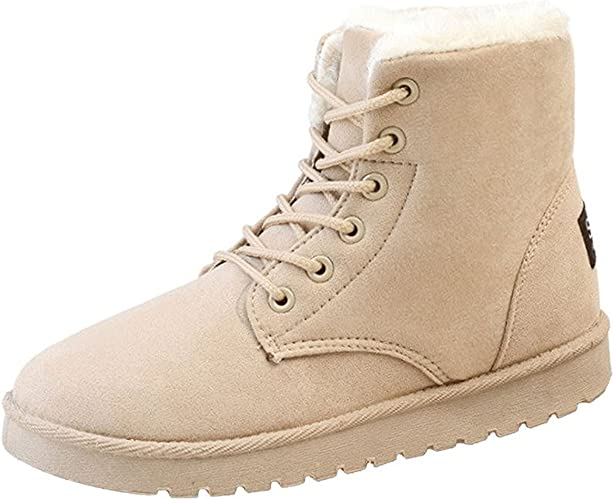 Casual Womens Faux Suede Bowknot Hidden Wedge Ankle Boots Winter Shoes Snow