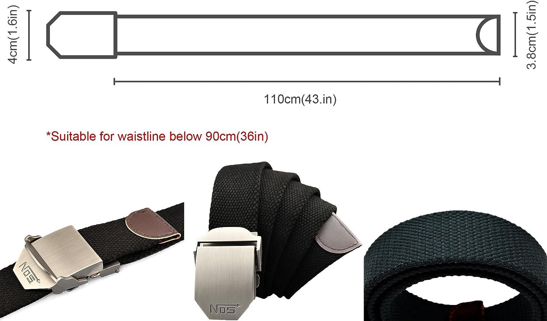 unifarben G/ürtel Meta-U Unisex-Gurtband Metall-Schnalle Leinwand