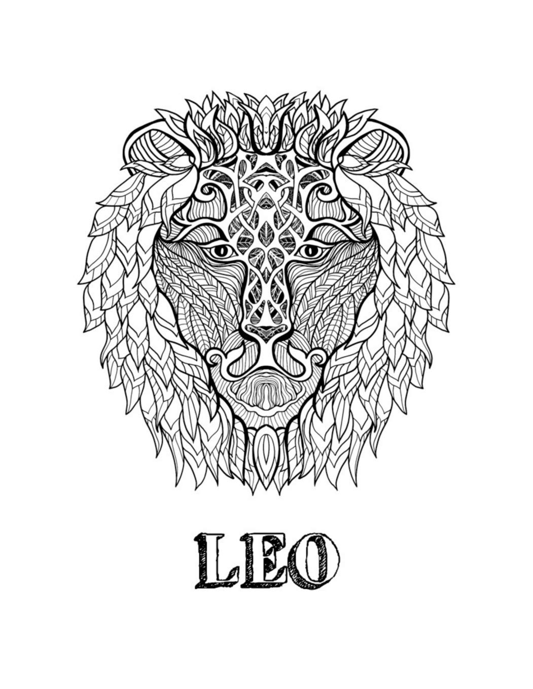 Leo Coloring Book With Three Different Styles Of All Twelve