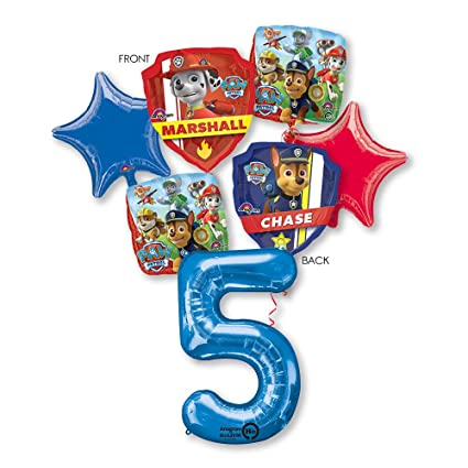 Amazon PAW PATROL 5TH BIRTHDAY BALLOONS PARTY