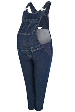 9cf3bd7307c7b Yours Women's Plus Size Bump It Up Maternity Indigo Super Stretch Dungarees:  Amazon.co.uk: Clothing